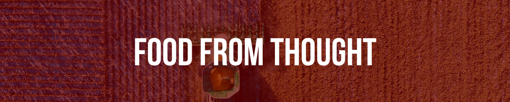 "Banner image stating ""Food From Thought"""